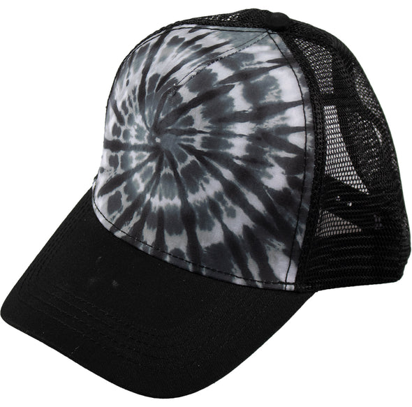 Monochrome Spiral Trucker Hat