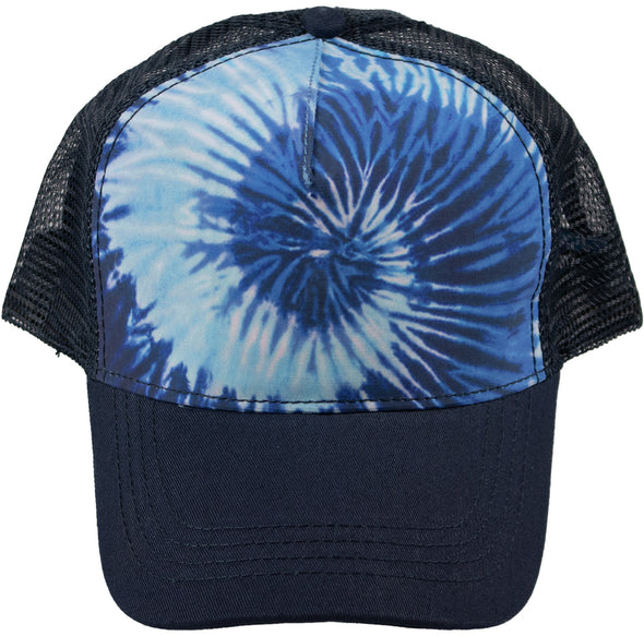Ocean Blue Spiral Trucker Hat