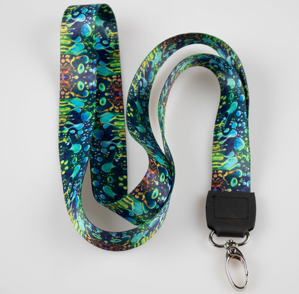 Green Liquid Light Lanyard