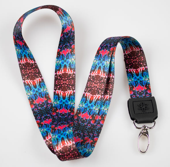 Red Liquid Light Lanyard