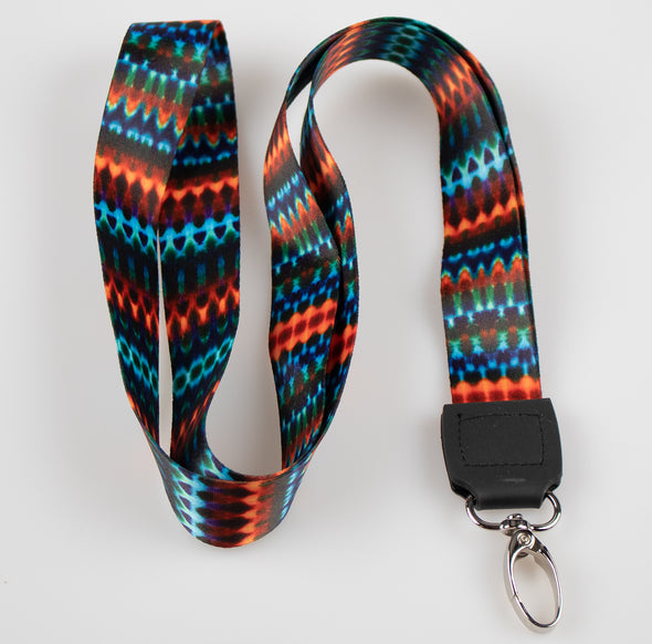 Orange Tribal Lanyard