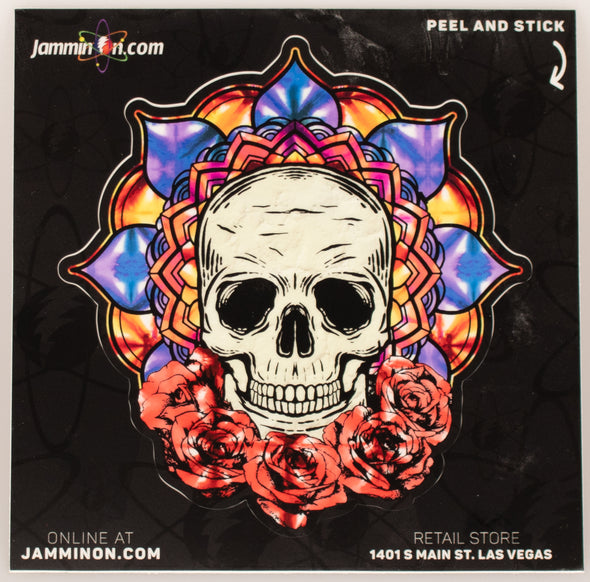 Jammin Skull Peel Off Sticker