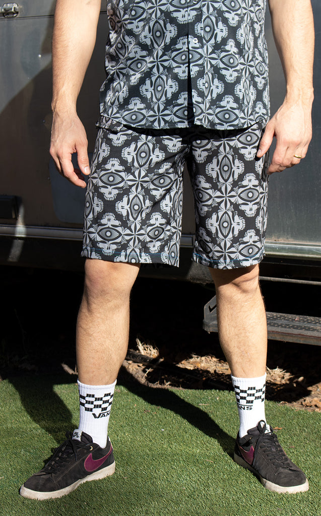 Gray Tiki Grateful Dead Boardshorts - Jammin Warrior Collective