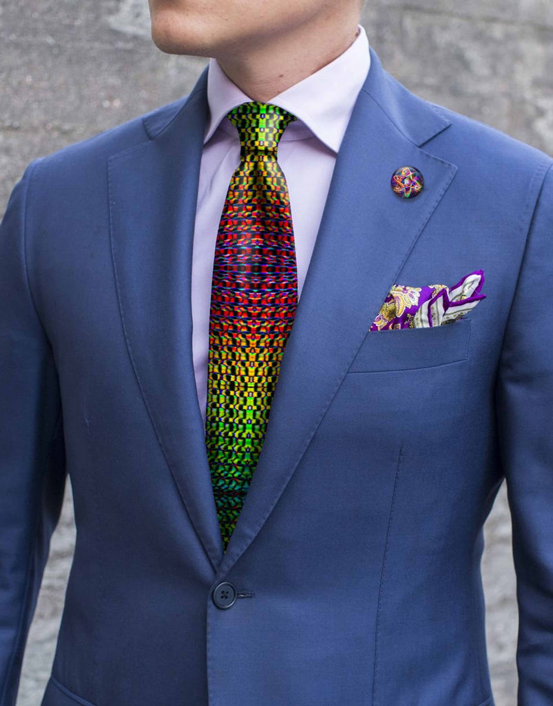 Necktie - Rainbow Dragon Scale