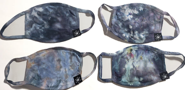 Brushed Steel - Tie Dye Face Mask