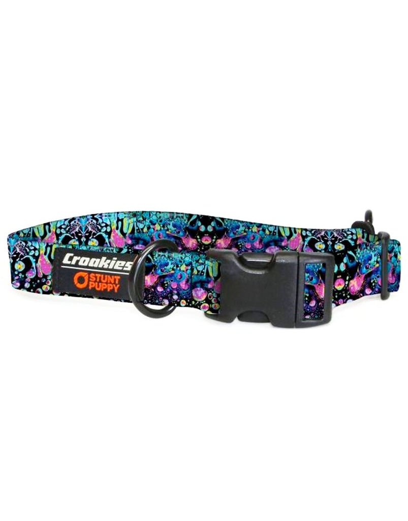 Croakies Dog Collar - Cyan Liquid Light