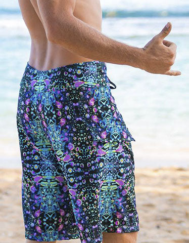 Cyan Liquid Light Boardshorts