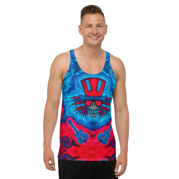 Uncle Sams Guitars All Over Print Tank Top