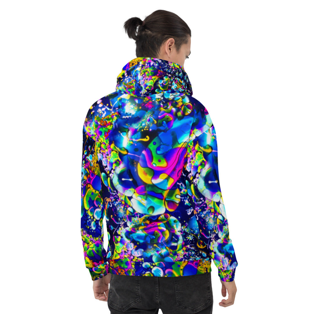Rainbow Liquid Light All Over Print Hoodie