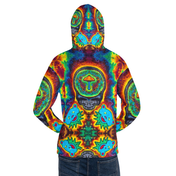 Mushroom Stealie All Over Print Hoodie