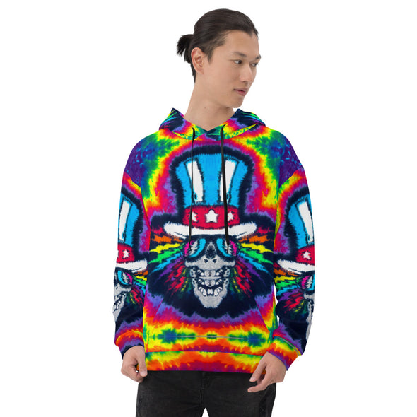 Electric Uncle Sam All Over Print Hoodie