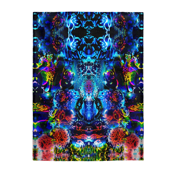 Coral Liquid Light Fleece Blanket
