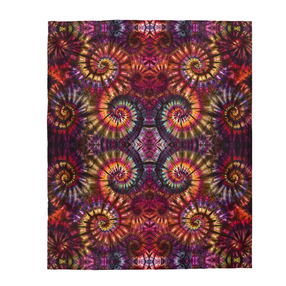 Autumn Spiral Fleece Blanket
