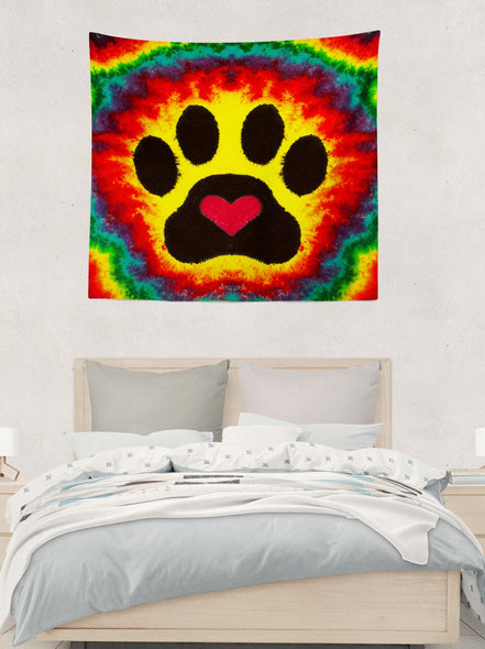 Dog Paw Tapestry