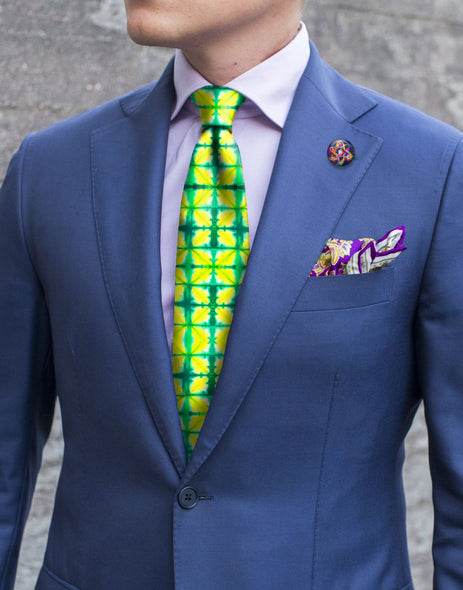 Necktie - Checker Lime