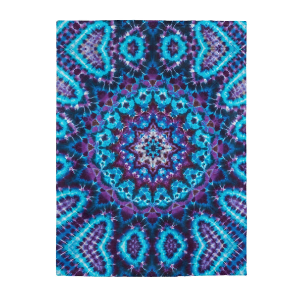 Ice Mandala Fleece Blanket