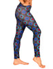 Black & Blue Diamond Legging - Jammin UNO Collection