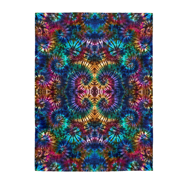 Coral Spiral Fleece Blanket