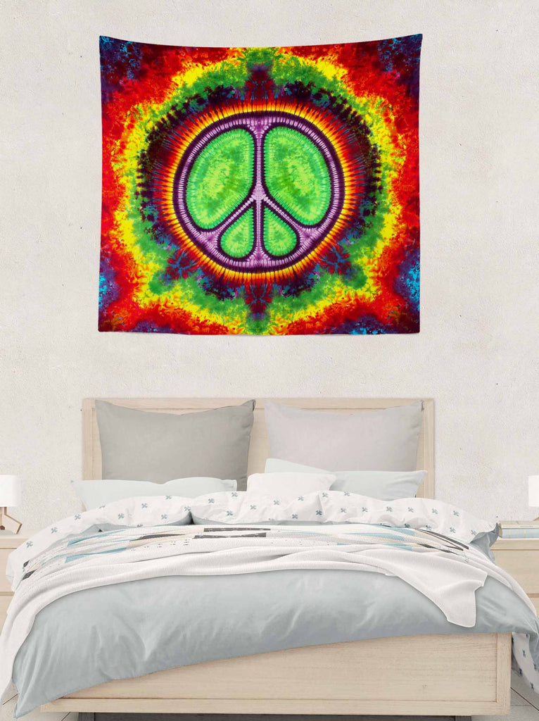 Purple Rainbow Fire Tapestry