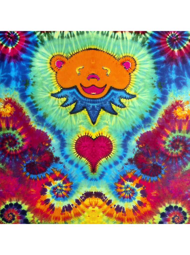 Orange Bear Tapestry