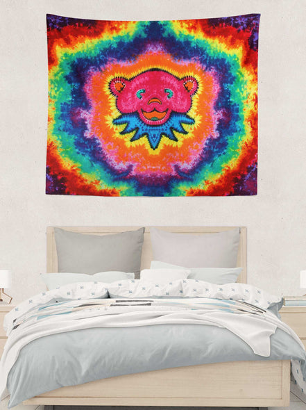 Pink Bear Tapestry