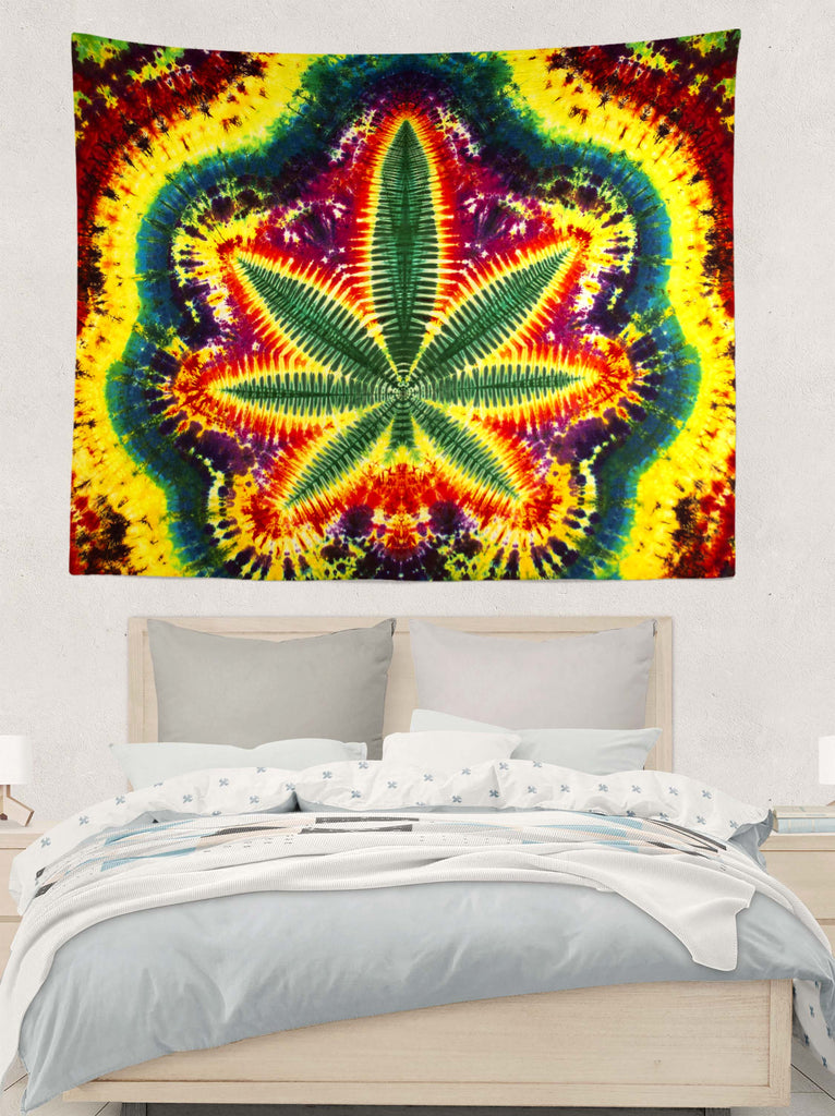 Dark Leaf Tapestry