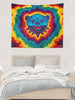 Blue Rainbow Bear Tapestry