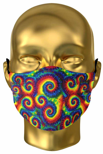 Rainbow Spirals Premium Face Mask