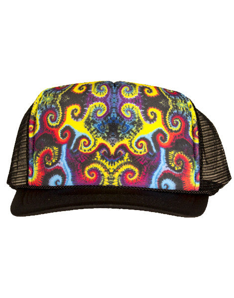 Spiral Mustache Trucker Hat - Jammin UNO Collection