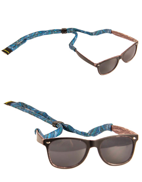 Croakies Suiters - Blue Bolts