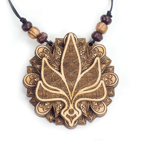 TALL T X Treasure Tribe Art - Leaf Stash Pendant