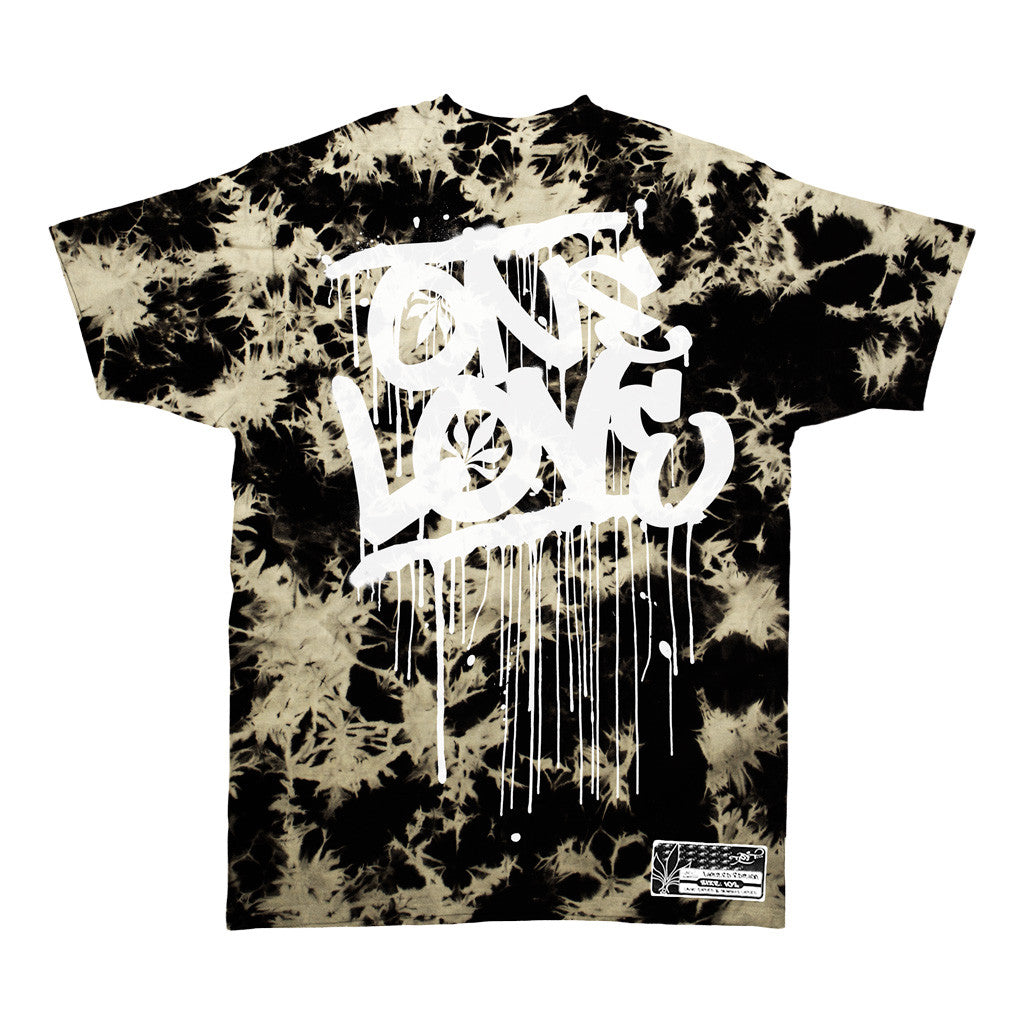 One love acid wash white tall t productions for Custom acid wash t shirts