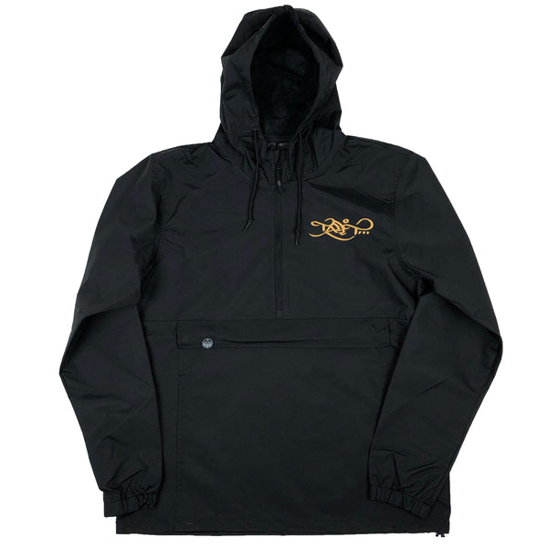 Anorak Windbreaker - Black / Gold