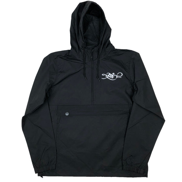 Anorak Windbreaker - Black / White