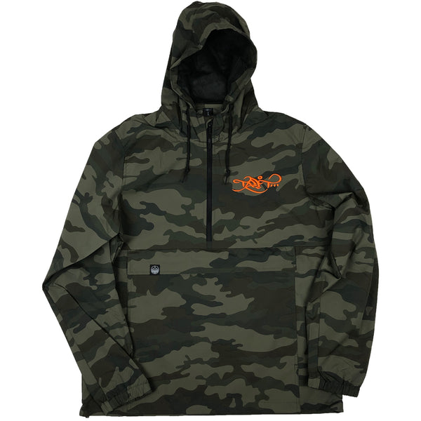 Anorak Windbreaker - Camo / Orange