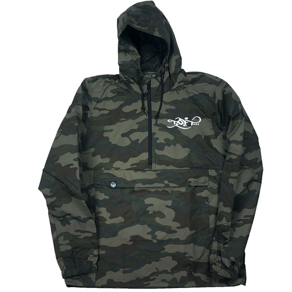 Anorak Windbreaker - Camo / White