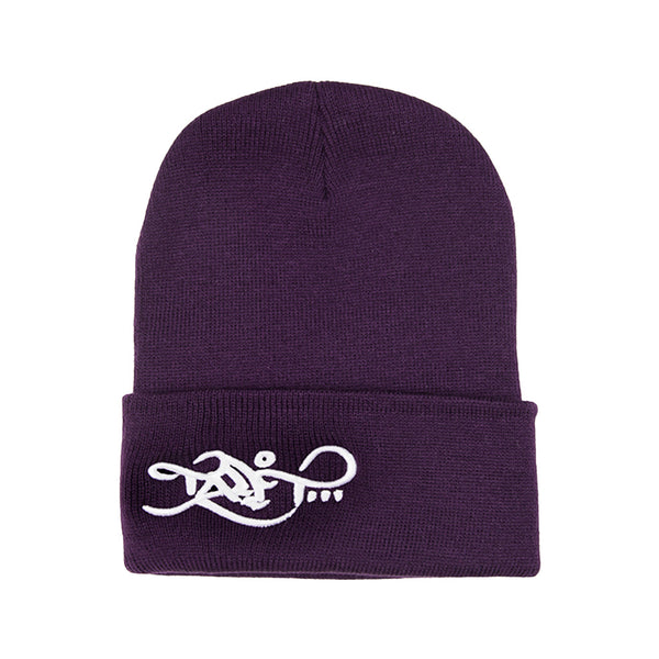 Beanie - Purple / White