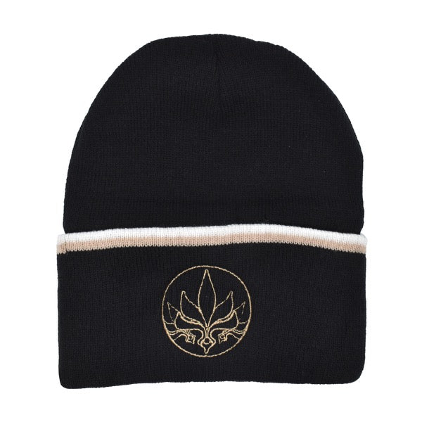 Stamp Stripe Beanie - Black / White / Tan