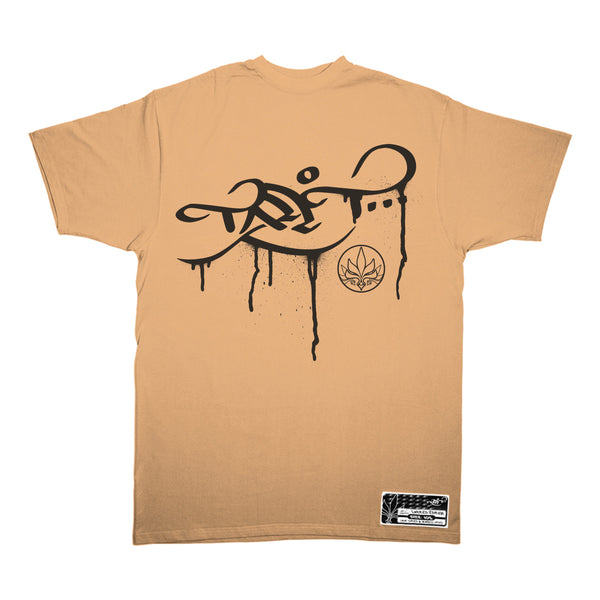 Drip Logo – Tan / Black