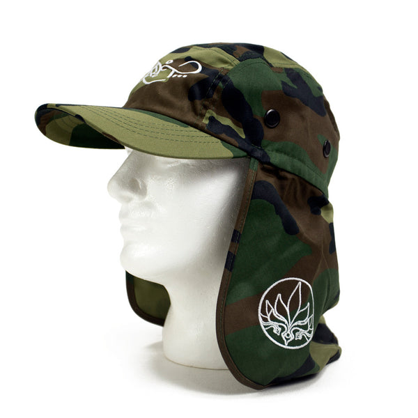 Flap Hat - Camo / White