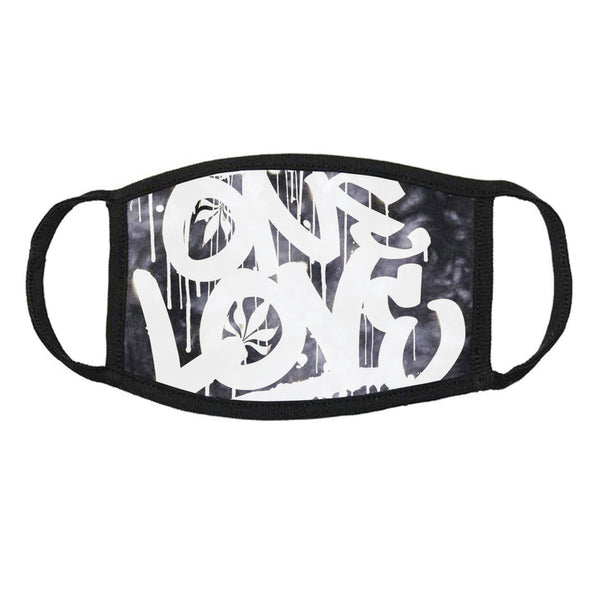 Face Mask - One Love / Black Crystal