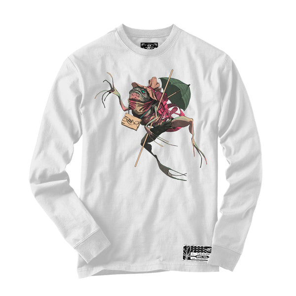 Long Sleeve - Howler Frog - White