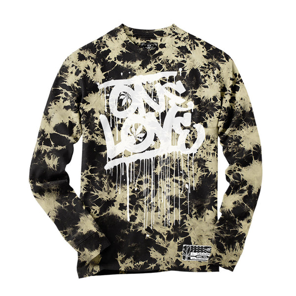 Long Sleeve - Acid Wash - One Love / White