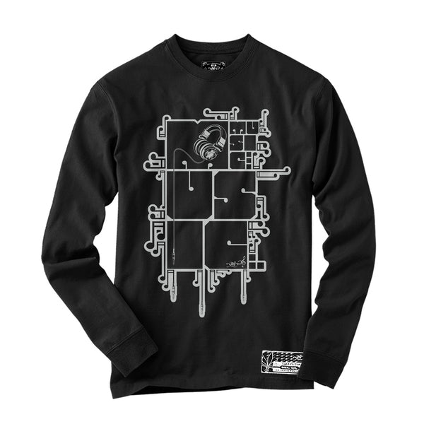 Long Sleeve - Music - Black / Grey