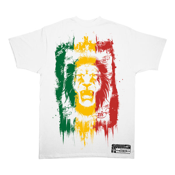 Rasta Lion – White