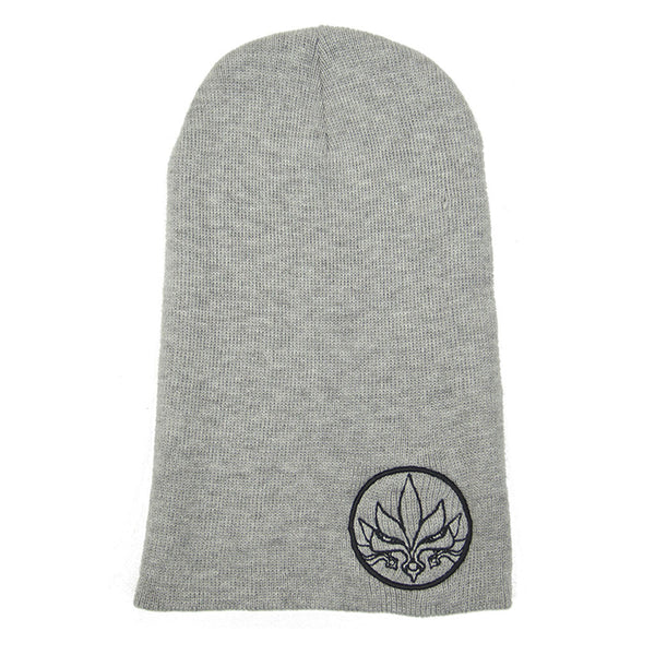 Stamp Slouch Beanie - Grey / Black