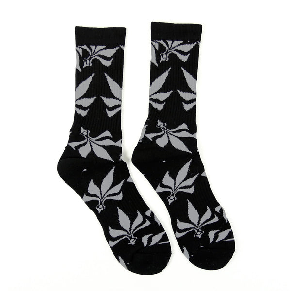 Socks – Leaves – Black / Grey