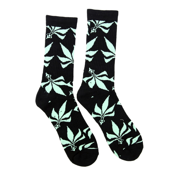 Socks – Leaves – Black / Mint