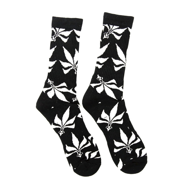 Socks – Leaves – Black / White