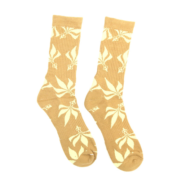 Socks – Leaves – Brown / Tan
